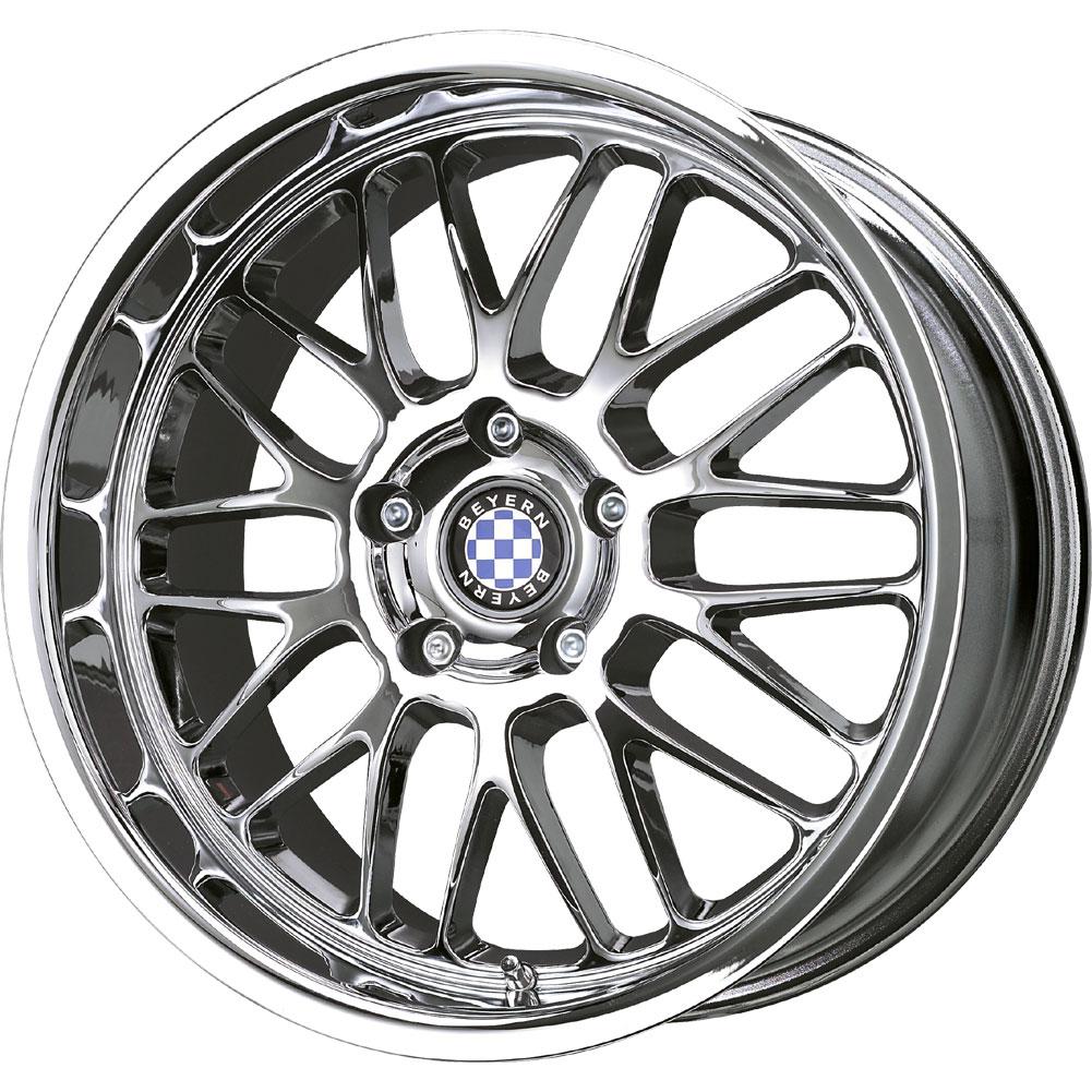 1 New 19X9.5 45 Offset 5x120 BEYERN Mesh Chrome BMW Wheel
