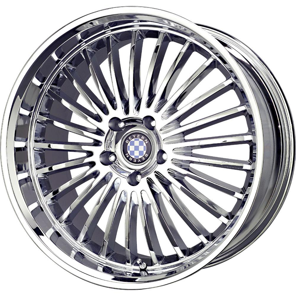 4 New 19X8.5 30 Offset 5x120 BEYERN Multi Chrome BMW