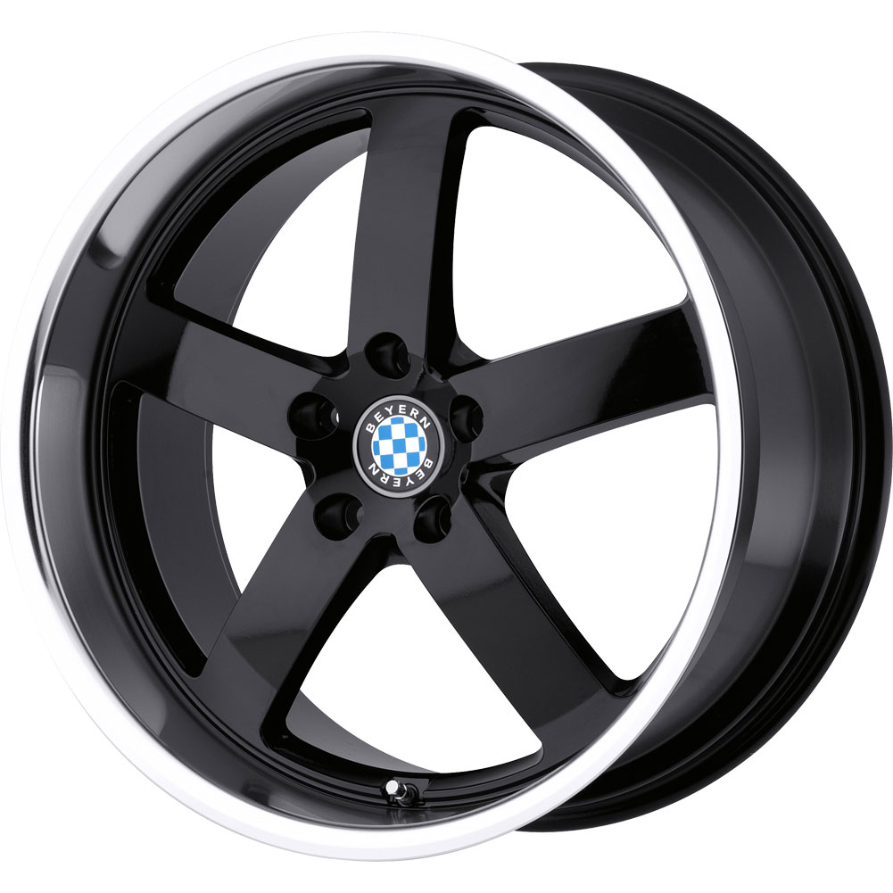 2 New 17X8 35 Offset 5x120 BEYERN Rapp Black Wheels/Rims
