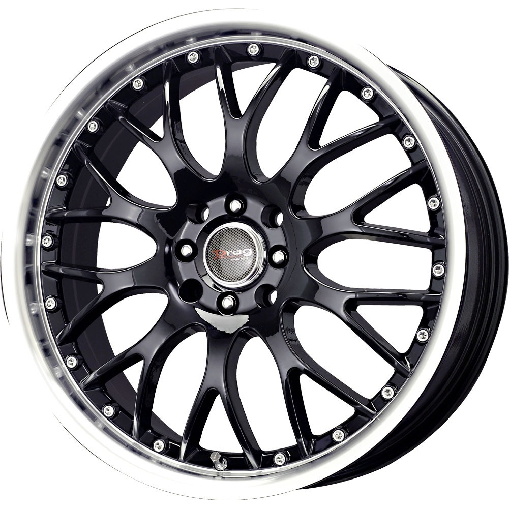 4 new 18x7 5 45 offset 5x100 5x114 3 drag dr 19 black wheels rims 45381 18 inch ebay. Black Bedroom Furniture Sets. Home Design Ideas