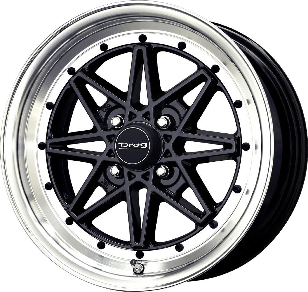 4 new 15x7 0 offset 4x114 3 drag dr 20 black wheels rims 15 inch ebay. Black Bedroom Furniture Sets. Home Design Ideas