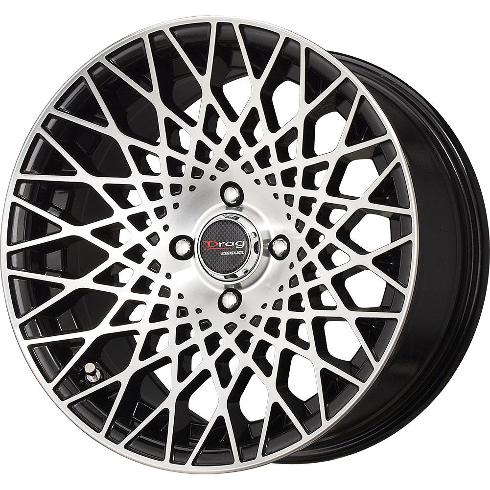 set 4 15x7 5 10 4x100 114 3 drag dr 66 black wheels rims 15 inch 78077 ebay. Black Bedroom Furniture Sets. Home Design Ideas