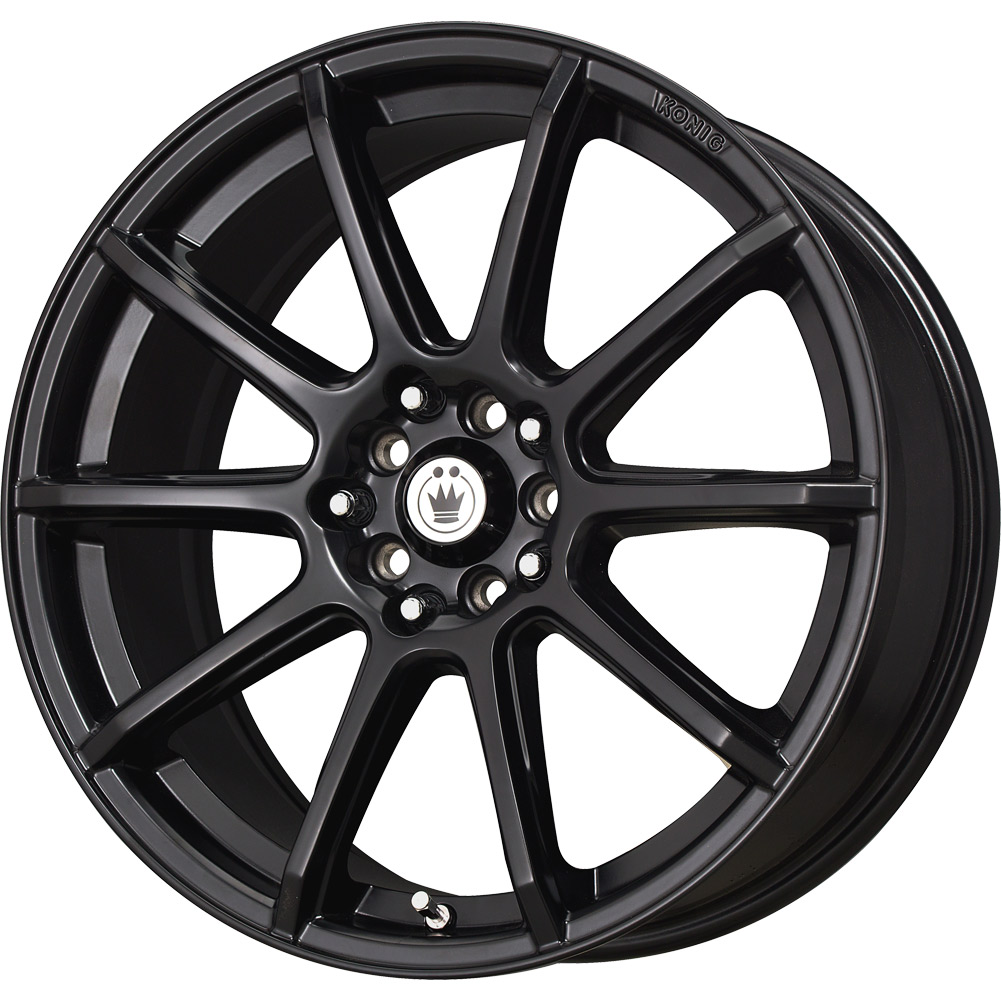 4 new 15x6 5 40 offset 4x100 4x114 3 konig control black wheels rims 15 inch ebay. Black Bedroom Furniture Sets. Home Design Ideas