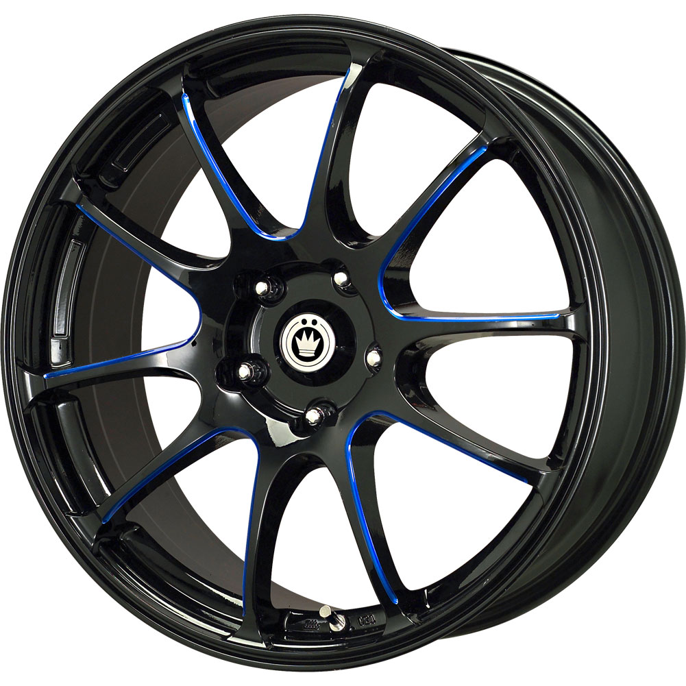 Rims For Cheap >> 1 New 17X7 40 Offset 5x114.3 KONIG Illusion Black Wheel ...