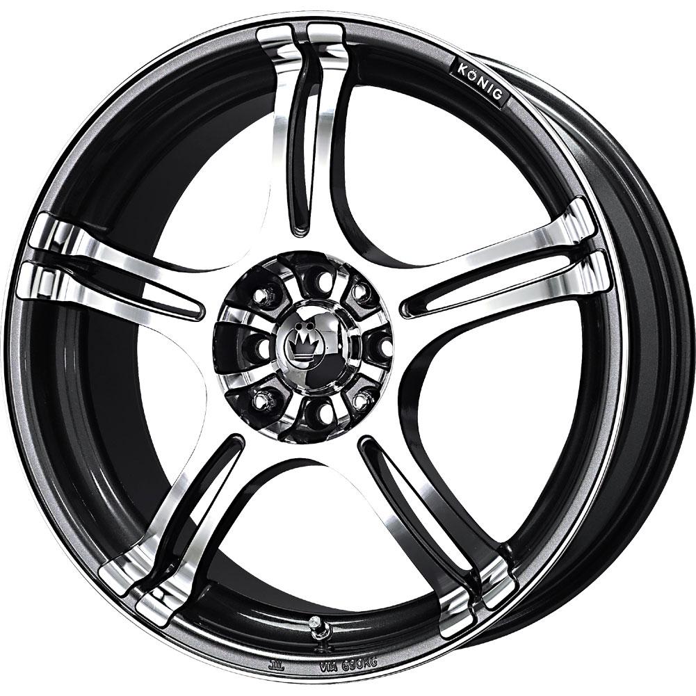 1-New-16X7-40-Offset-5x100-5x114-3-KONIG-Incident-Graphite-Wheel-Rim-16-Inch