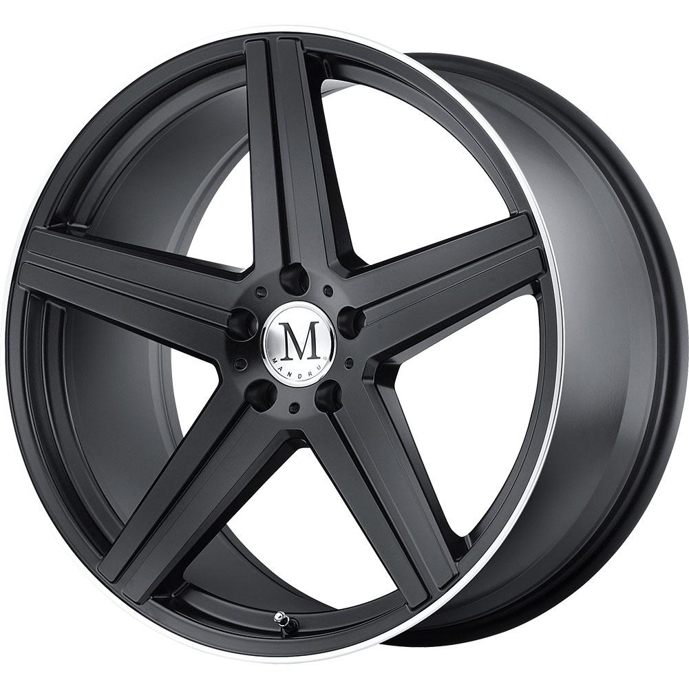 4 new 18x8 5 43 offset 5 mandrus estrella black for Mercedes benz tires and rims