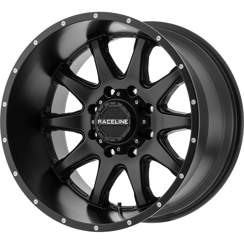 4 NEW 18X9 18 OFFSET 6-139.70 RACELINE SHIFT BLACK WHEELS ...