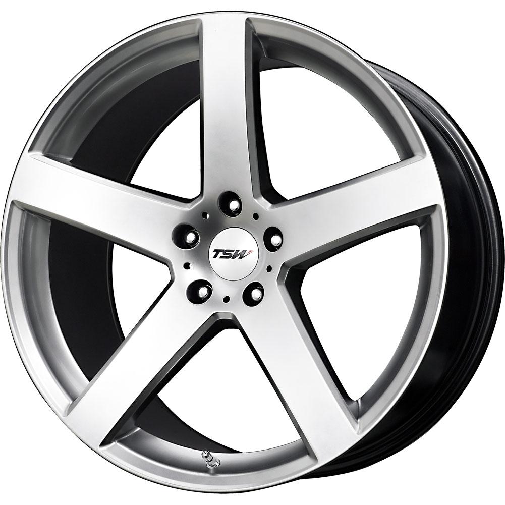 2 New 18x8 20 Offset 5x114 3 Tsw Tsw Rivage Silver Wheels