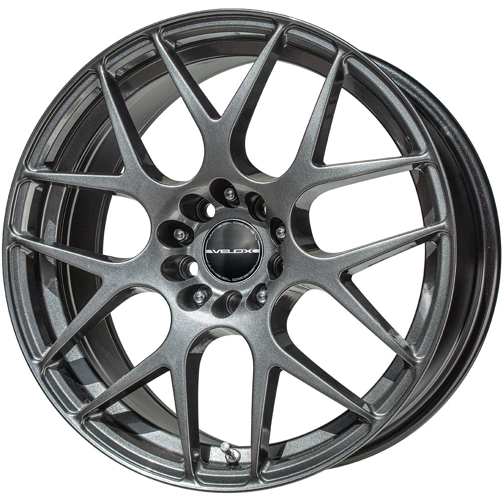4 new 18x8 40 offset 5x120 velox apex black wheels rims 20390 18 inch ebay. Black Bedroom Furniture Sets. Home Design Ideas