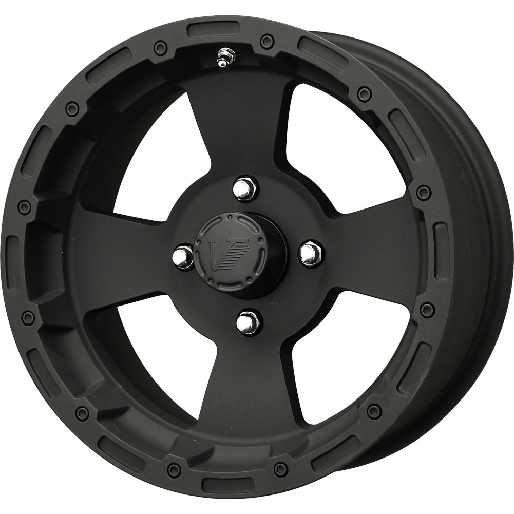 Atv Rims Wheel Covers : New vision atv bruiser black wheel